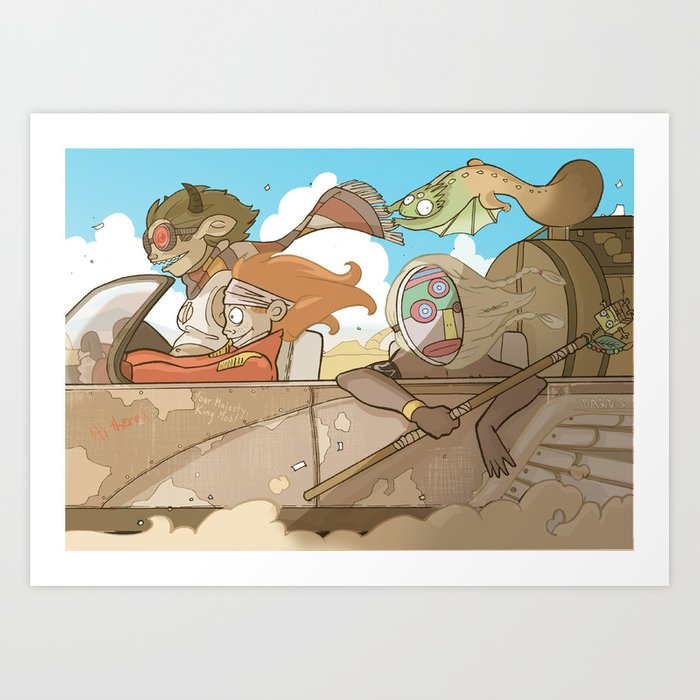 On the Road 2: Distracted Art Print