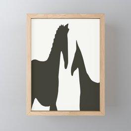 Horse Cutouts Framed Mini Art Print