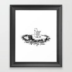 Polar Bear Monday Framed Art Print