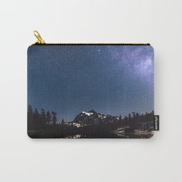Summer Stars - Galaxy Mountain Reflection - Nature Photography Carry-All Pouch