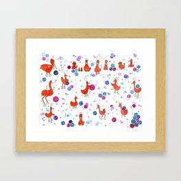 Birdo Basketball Framed Art Print