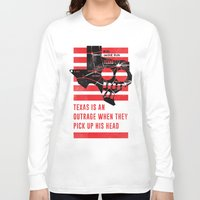 jfk Long Sleeve T-shirts featuring Misfits JFK Poster Series - Pick Up His Head by Robert John Paterson