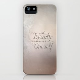 Real Beauty is to be True To Oneself White Peacock iPhone Case