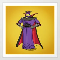 toy story Art Prints featuring Toy Story | Emperor Zurg by Brave Tiger Designs