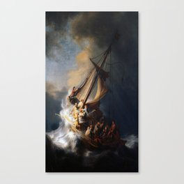 Rembrandt's The Storm on the Sea of Galilee Canvas Print