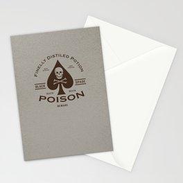 Black Spade Poison Stationery Cards