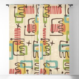 Mid Century Modern Abstract Pattern 731 Blackout Curtain