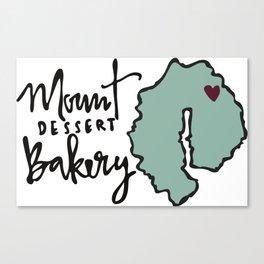 Mount Dessert Bakery Logo Canvas Print