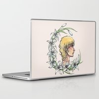 enjolras Laptop & iPad Skins featuring Enjolras and lilies by MonsterFromTheLAke