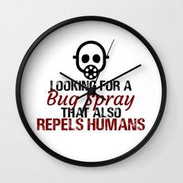 Human Repellant Bug Spray Anyone? Wall Clock