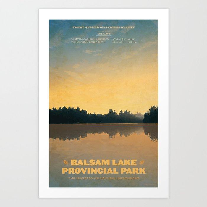 Balsam Lake Provincial Park Art Print