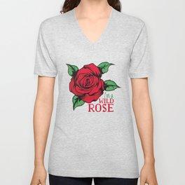 Wild rose, for wild  girls Unisex V-Neck