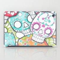 sugar skulls iPad Cases featuring skulls sugar by wet yeti