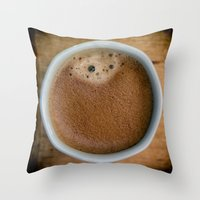 coffe Throw Pillows featuring Coffe Time by JAY'S PICTURES