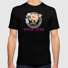 Rock Star Black Mens Fitted Tee MEDIUM