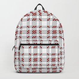 Line Ligné 2 black and red prince de galles Backpack