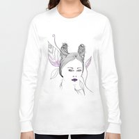 fashion illustration Long Sleeve T-shirts featuring Fashion Illustration by ValeriaZ