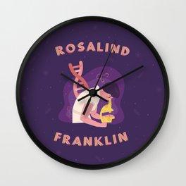 Rosalind Franklin Illustration Wall Clock