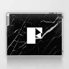Black Marble - Alphabet F Laptop & iPad Skin
