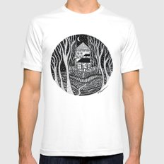 ONE FALL NIGHT MEDIUM Mens Fitted Tee White