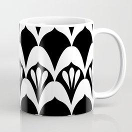Art Deco Fans Black & White Coffee Mug