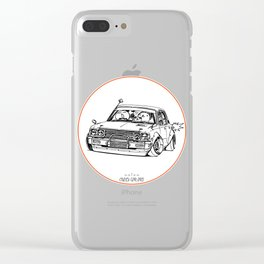 Crazy Car Art 0224 Clear iPhone Case