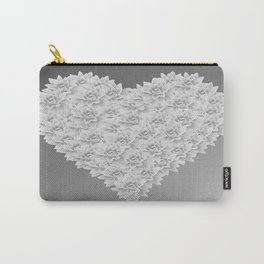 White heart Carry-All Pouch