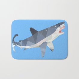 Low Poly Great White Shark Bath Mat