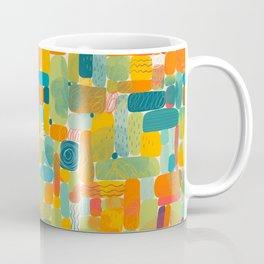Colorful shapes acrylic painted illustration pattern Coffee Mug