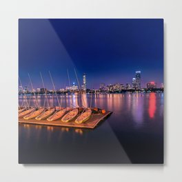 Blue Night. Cambridge MA Metal Print