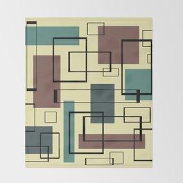 Mid Century Modern Rectangles Throw Blanket