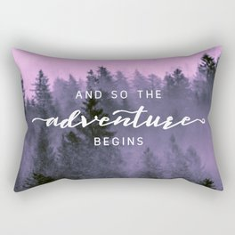 And So The Adventure Begins Pink Forest Rectangular Pillow