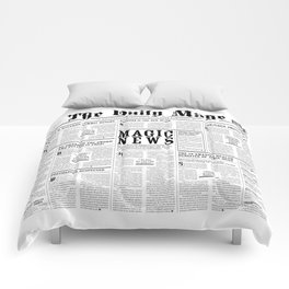 The Daily Mage Fantasy Newspaper Comforters