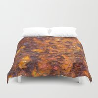 heavy metal Duvet Covers featuring Heavy Rust by davehare