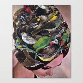 Birds of Hair Canvas Print