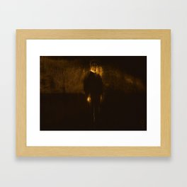 Slender Man Framed Art Print
