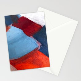 Abstract blanket painting of quilts patchwork Stationery Cards