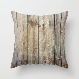 Rustic Wooden Plank Texture Throw Pillow