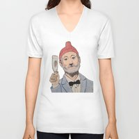zissou V-neck T-shirts featuring Zissou by The A B Project