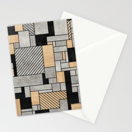 Random Pattern - Concrete and Wood Stationery Cards