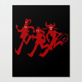 Run Run Run! In Red! Canvas Print