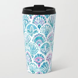 OMNISCIENT MERMAID All-Seeing Eye Scallop Travel Mug