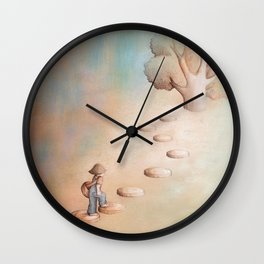 Climbing a Tree Wall Clock