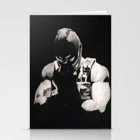 bane Stationery Cards featuring Bane by a vitruvian man