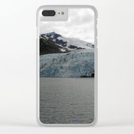 TEXTURES -- A Face of Portage Glacier Clear iPhone Case