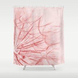 Dandelion In Pink Shower Curtain