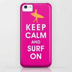Keep Calm and Surf On (Surfer Girl) iPhone 5c Slim Case