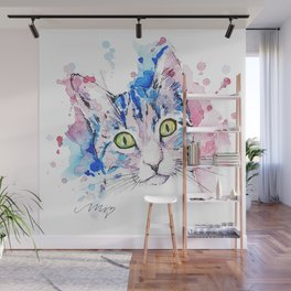 Watercolor Miju Wall Mural