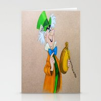 mad hatter Stationery Cards featuring Mad Hatter by Sierra Christy Art