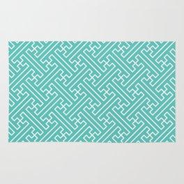 Lattice - Turquoise Rug